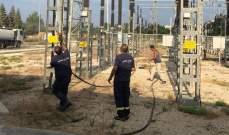 إصلاح محطة التحويل الرئيسية للكهرباء في وادي جيلو