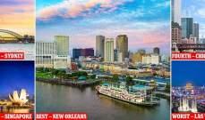 نيو أورليانز تتصدر قائمة أفضل المدن لقضاء عطلة طويلة