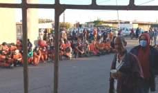 اعتصام لعمال معمل فرز النفايات في صيدا للمطالبة بتحسين رواتبهم