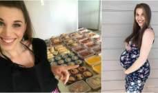 بالصور: حامل في الشهر التاسع تطبخ 300 وجبة في يوم واحد!
