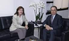 بطيش بحثفي الشؤون الاقتصادية اللبنانية وأفق الاستثمار مع السفيرة الأميركية