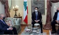 """لقاء بين دياب والسفير الروسي يبحث مساعي تصنيع لقاح """"سبوتنيك"""" في لبنان"""