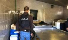 إقفال معمل للالبان والاجبان بالشمع الاحمر في محافظة بعلبك