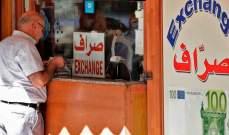 سعر صرف الدولار مقابل الليرة بحسب إعلان نقابة الصرافين