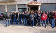 """المياومون ينفذون اعتصاماً أمام """"كهرباء لبنان"""" في دورس"""
