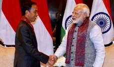 إندونيسيا والهند تتفقان على رفعحجم التبادل التجاري إلى 50 مليار دولار