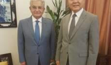 صفير بحث مع السفير الصيني تطوير العلاقات الإقتصادية والتجارية