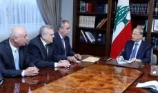 الرئيس عون يستقبل وفداً من الاتحاد العمالي العام