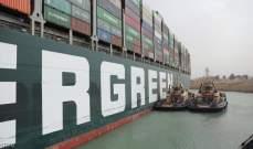 إعادة تعويم السفينة الجانحة في قناة السويس