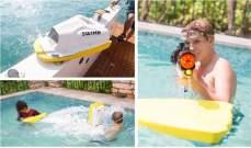 """SWIMN""لوحة سباحة يعمل بالتيار الكهربائي"