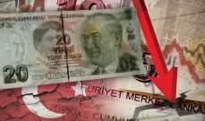 الليرة التركية تهبط لأدنى مستوياتها منذ تشرين الثاني 2020