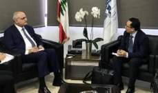 خليل بحث مع القصّار ووفد صيني إمكانية مساهمةالبنوك الصينية بعملية الاستثمار في لبنان