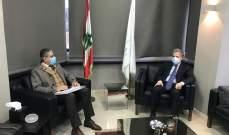 وزني يبحث مع أيوبفي موضوع المحافظة على موازنة الجامعة اللبنانية وحقوق أساتذتها والعاملين فيها