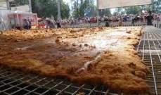 أكبر شريحة لحم في العالم والقطعة بـ...!