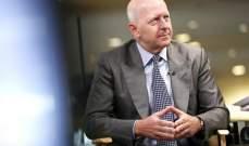 """المدير التنفيذي لـ""""غولدمان ساكس"""": إرتفاع سوق الأسهم الأميركية السريع مبالغ فيه"""