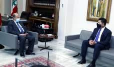 """الرئيس عون يبحث مع غجر أعمال """"مؤسسة كهرباء لبنان"""" بعد أعطال العاصفة"""