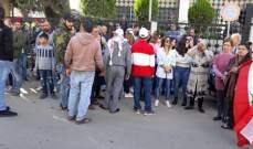 حراك النبطية وكفررمان ينظم مسيرة للاعتراض على تقنين الكهرباء