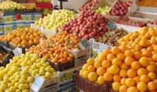 العراق يتصدر الدول المستوردة للخضر والفواكه من إيران