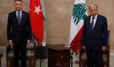 نائب الرئيس التركي: مستعدون لتقديم المساعدات التي يحتاجها لبنان لإعادة الإعمار