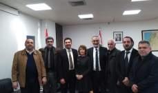نقابة موزعي الغاز زارت وزير الطاقة وسلمته كتابا عن وضع القطاع