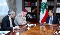 الرئيس عون: الأزمة الإقتصادية والمالية في لبنان موضع معالجة