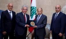 عون: ادعو الشباب اللبناني للمثابرة على الرياضة كأسلوب حياة