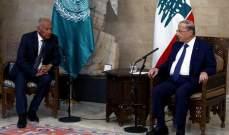 أبو الغيط: نعتزم أن نطرح على جامعة الدول العربية إقتراحاً لدعم لبنان