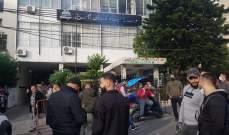 """لليوم الثاني.. إعتصام لموظفي """"مياه لبنان الجنوبي"""" في صيدا"""