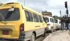 """سائقو """"الميني باص"""" في طرابلس علقوا إعتصامهم"""