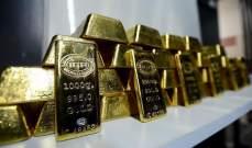 عقود الذهب تتراجع أكثر من 1 % لتهبط دون مستوى 1950 دولاراً للأوقية