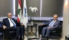 خليل بحث مع وفد منجمعية المصارف الأوضاع المالية والاقتصادية في لبنان