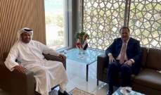 شقير يبحث مع السفير الإماراتي الأوضاع الإقتصادية والإجتماعية في لبنان