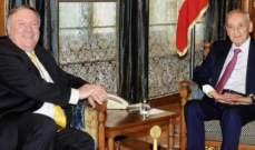 بري بحث مع بومبيو العقوبات الأميركية وتداعياتها على لبنان