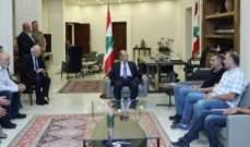 الرئيس عون لوفد من المتظاهرين: سوف اعمل جهدي للتخفيف من معاناتكم