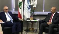 مسؤول بالبنك الدولي زار خليل ونوه بإقرار الموازنة وبالنقاشات الجدية حول الإصلاحات