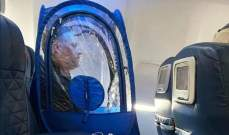 الخيمة البلاستيكية...حيلة جديدة لتجنب كورونا على الطائرة!