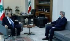الرئيس عون يبحث مع سلامة الإجراءات الآيلة لإستمرار دعم المواد الأساسية بالظروف الراهنة