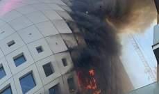 السيطرة على حريق شب صباحاً في مبنى تجاري قيد الإنشاء وسط بيروت