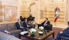 دياب بحث أوضاع الجمارك مع وزير المالية بحضور مسؤولين