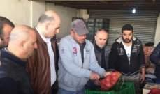 ضبط 2400 كيلو من البصل المصري غير صالح للاستهلاك في اسواق الفرزل