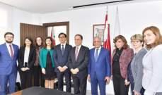 بطيش استقبل لازاريني: سنعمل على تمتين وتعزيز الاقتصاد اللبناني من خلال تسهيل بيئة الاعمال