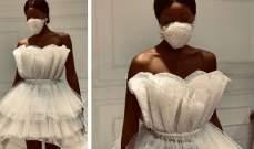 فستان زفاف في زمن كورونا!