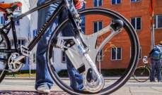 """إطارات """"GeoOrbital"""" لتحويل الدراجةالهوائية لدراجة كهربائية خلال 60 ثانية"""