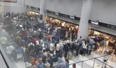 """""""مديرية الطيران المدني"""": الصور المتداولة لأعداد كبيرة من المسافرين سببها عطل على جرار حقائب"""