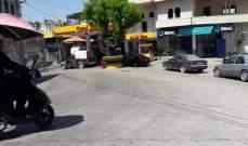 طوابير من السيارات على محطات المحروقات في حاصبيا