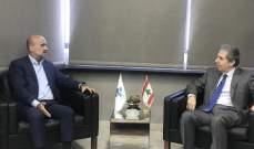 وزني يبحث مع أبي رميا المشاكل المالية للأندية الرياضية اللبنانية