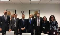 """بطيش أنهى زيارته الى واشنطن بسلسلة لقاءات مع """"صندوق النقد الدولي"""""""