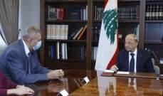 الرئيس عون يؤكد لكوبيتش المضي في عملية مكافحة الفساد والتدقيق الجنائي المالي