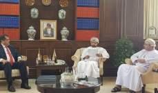 رزق التقى رئيس غرفة عمان في مسقط وسلمه رسالة من شقير