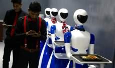 """""""Robot""""مطعمجديد في بنغالور يقدم الطعام الهندي والصيني"""